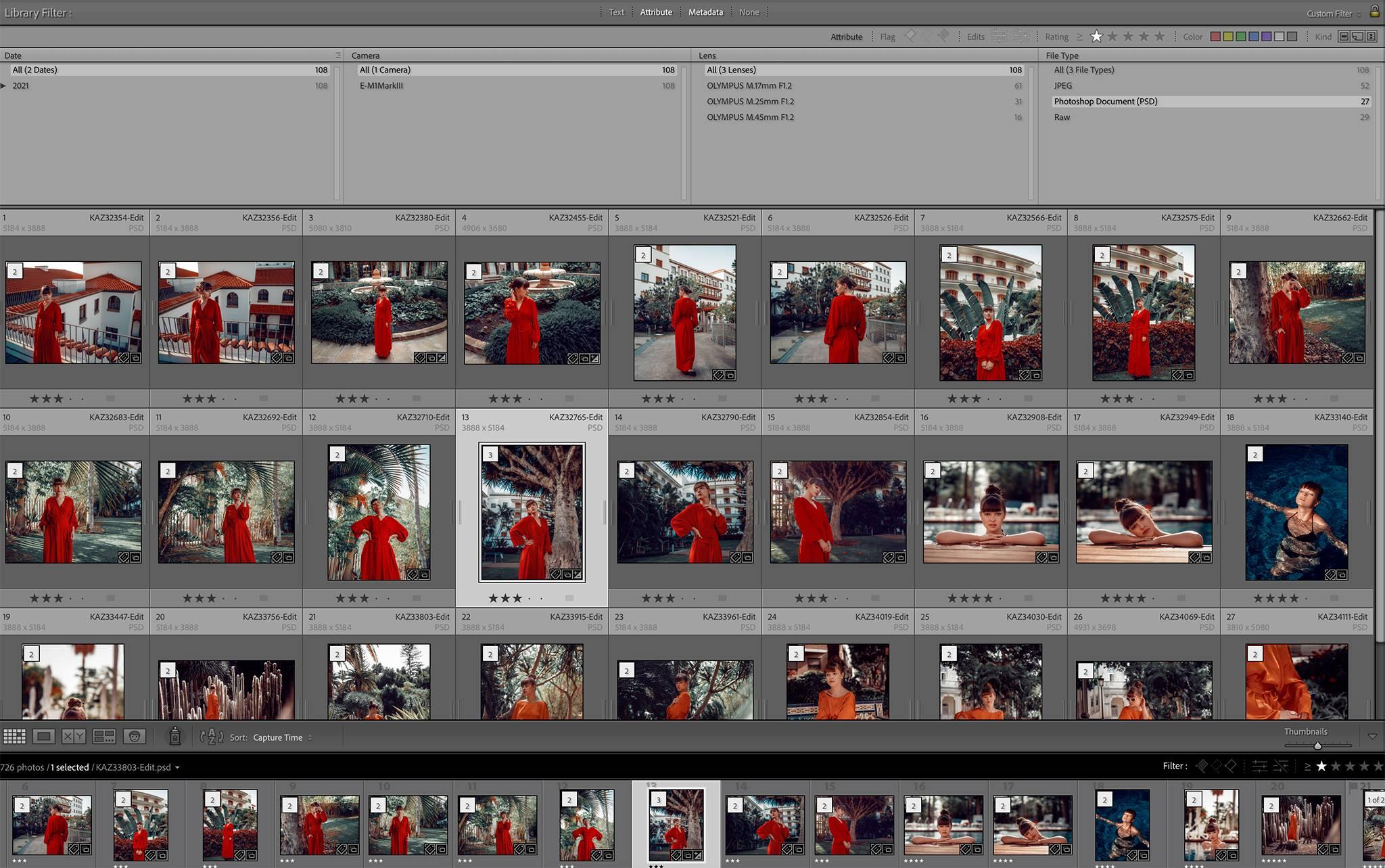 Adobe Lightroom ma świetną funkcję do selekcji zdjęć. Ja używam gwiazdek i etykiet kolorystycznych